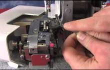 1110DX   upper looper drive arm position